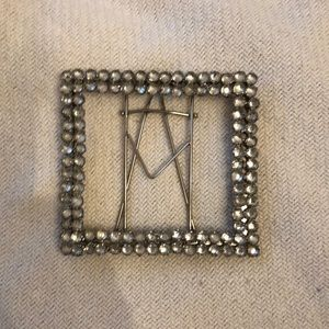 🖼 Bejewelled metal photo frame with stand